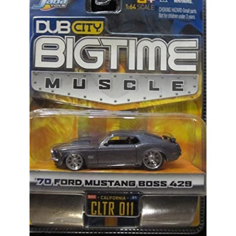 70 Ford Mustang Boss 429 (metallic gray) Dub City Bigtime Muscle By Jada by (70 Boss 429 Mustang)