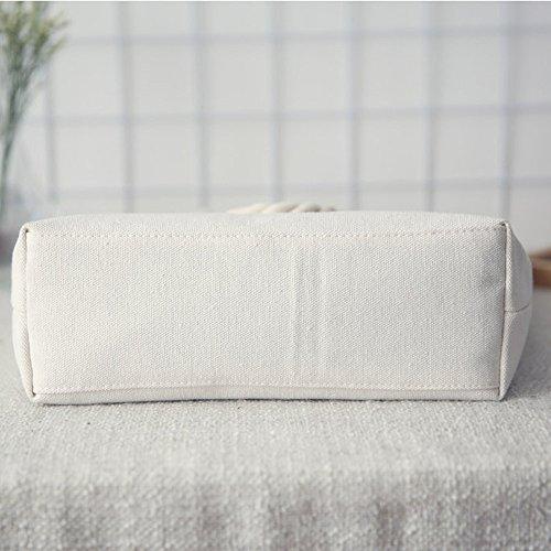 tela delle Longra della canapa Mori borsa Sacchetto spalla stile Bianco di donne A di di della xHHPqYaw4