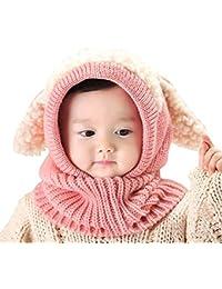 AUVSTAR Neonata per bebè Bambino Inverno Sciarpa Set Cutest Earflap  Cappuccio Warm Knit Hat Sciarpe con ac33a1d1b7ba