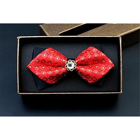 Tie oro Paillettes Patterned cravatta per festa