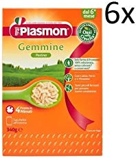 6x PLASMON pastina Gemmine Babynahrung nudeln ab 6 Monaten 340g
