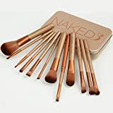 #8: Urban Decay Naked3 Cosmetic Makeup Brush Set with Storage Box - 12 Piece Set