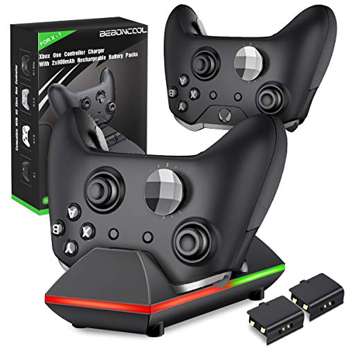 Xbox One Controller Ladestation, BEBONCOOL 2x800mAh Xbox One Controller Akku Xbox Controller Ladestation, Xbox Akku Ladeatation Zubehörsets für Xbox One S/Xbox One X/Xbox One Elite/Xbox One Controller