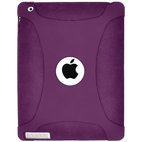 Amzer Exclusive Silicone Skin Jelly Case Cover for Apple iPad 2 - Purple