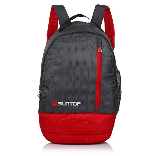 Suntop 20Ltr Grey & Red Trekking Backpack