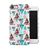 DODOX Tropical Palms & Ocean Triangle Pattern Coque Housse Etui De Protection Plastique Dur Ligne Profil Slim pour iPhone 7 / iphone 8 Hard Plastic Case Cover