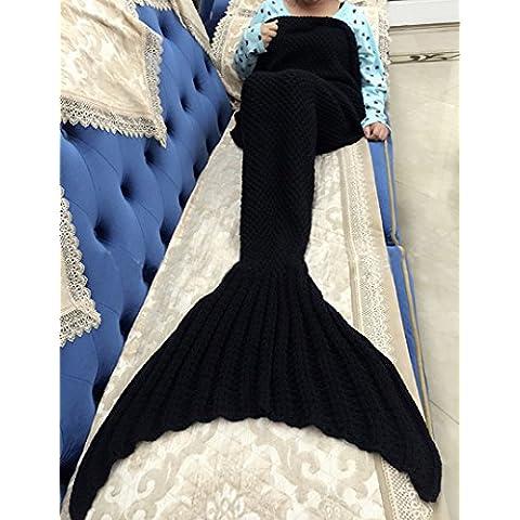 Tail Mermaid Coperta uncinetto Maglieria morbido Sacco