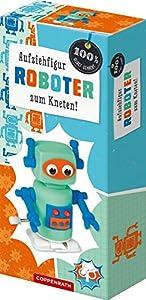 Aufziehfiguren zum Kneten: Eule, Pinguin, Roboter, Dinosaurier. Figur nicht frei wählbar