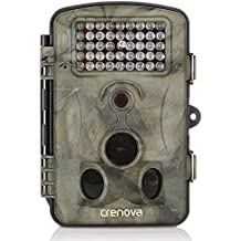 Crenova Fotocamera caccia Macchinefotografichedacaccia 12MP 1080P in HD con Intervallo di Tempo 65ft 120° Visione notturna ad infrarosso con angolo Ampio da 42pcs IR LED 2.4