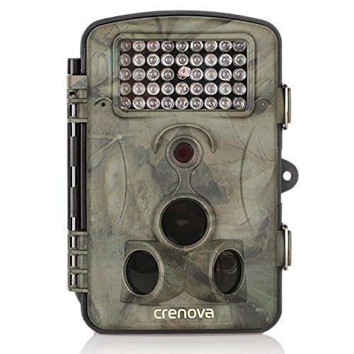 Crenova 12MP 1080P HD Infrared Game&Trail Camera 42 Pcs IR LEDs 120°Wide Angle Night Vision 2.4