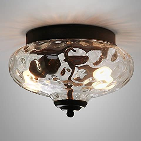 Trioy Life Ceiling Lamp Ceiling Light Glass Industrial Edison Modern