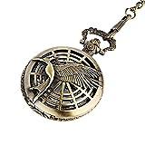 Patrón de Las Mujeres de Bolsillo de Cuarzo analógico Reloj de Bolsillo Telaraña Hueco Colibrí Cadena Pendiente de Bolsillo del Bronce del Reloj del Collar del Reloj de Bolsillo L
