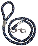 Dicke Kordel-Hundeleine, marineblau/hellblau/weiß, Länge 150 cm