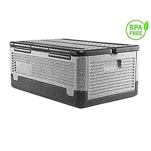 Lisk. Flip Box Grizzly Big 39l – Große, isolierte & Faltbare Thermobox aus hochwertigem EPP für Essen, Einkäufe…