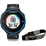 Garmin Forerunner 620 HRM - Reloj de carrera con GPS con pulsómetro, color negro / azul