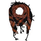 Shemagh 100x100cm 100% Baumwolle schwarz/orange
