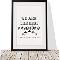 Personalised Valentine's Day Present For Him Her | 'We Are The Best Adventure' Framed Print | 12x10 Inch Wall Décor Present For Couples | Black