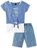 Schiesser Zweiteiliger Schlafanzug Teens Mädchen Anzug kurz, Blau (Hellblau 805), 128