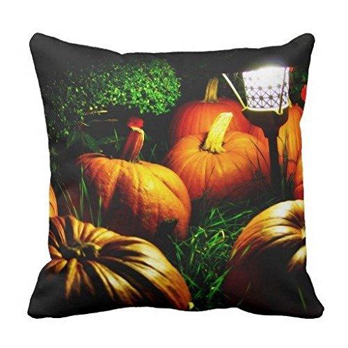 Louisa Maxine Black Halloween Pumpkins And A Night Light Wide pillowcase Pillow Case Cover Standard Size Twin Sides