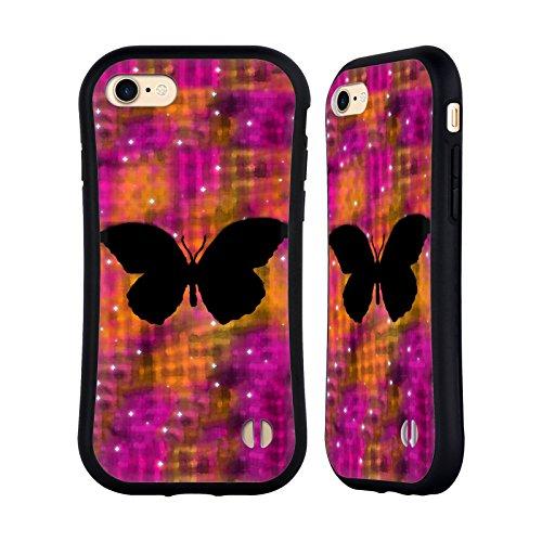 Ufficiale WondrousCre8tions Volo Di Drago Collezione Acquarelli Galassia Case Ibrida per Apple iPhone 7 Plus Farfalla
