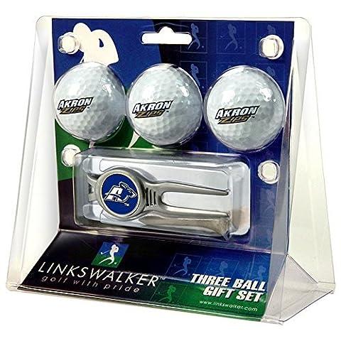 Akron Zips NCAA 3 Ball Gift Pack w/ Kool Tool by LinksWalker