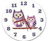 Hoot Eule Uhr, Mädchen Uhr, Kinder Uhren, Wanduhr, leise Uhren, Mädchen Raum Uhr