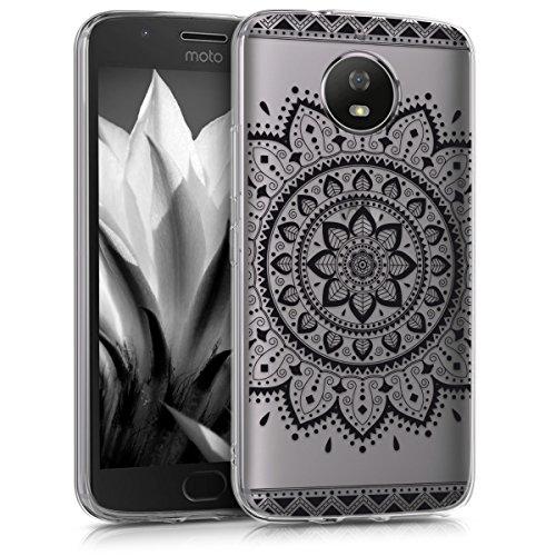 kwmobile Motorola Moto G5S Hülle - Handyhülle für Motorola Moto G5S - Handy Case in Schwarz Transparent