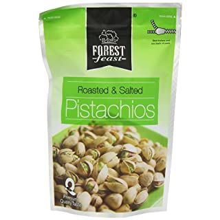 Forest Feast Savoury Doypacks Roasted and Salted Pistachios 250 g (Pack of 2)