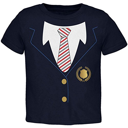 Halloween-American School Girl Kostüm Kleinkind T Shirt Marine 4 (School Private Kostüm)