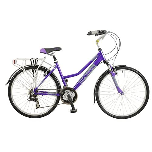 51lkKhjQEgL. SS500  - Falcon Women's Voyager Hybrid Bike-Purple, 12 Years