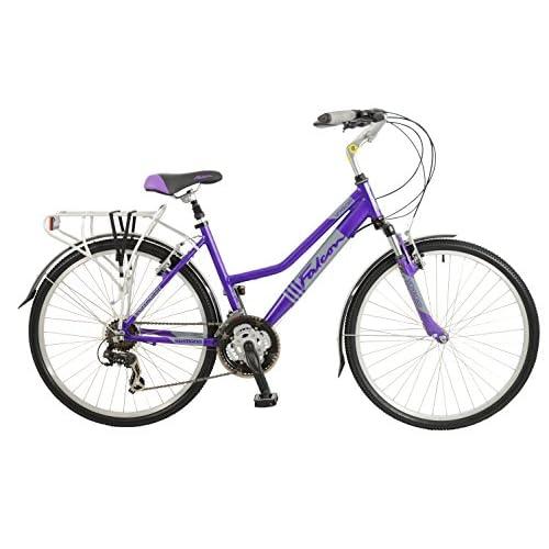 51lkKhjQEgL. SS500  - Falcon Women's Voyager Hybrid Bike-Purple, 12 Years