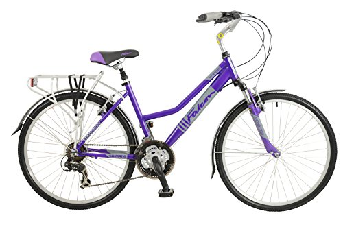 51lkKhjQEgL - Falcon Women's Voyager Hybrid Bike-Purple, 12 Years