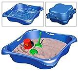 Sandkasten 2er Set Planschbecken Buddelkasten Pool Sandbox Sandkiste Kunststoff