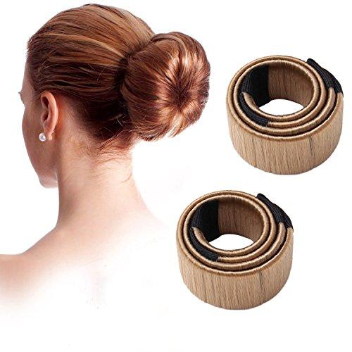 Namgiy Haar Bun Twist Styling-Set Haar Donut Maker Flechten Haargummis Haar Dutt Curler Roller Werkzeug für Schule Arbeit Leben Yoga Tanzen 2