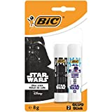 Star Wars BIC Bâtons de Colle Blanche 8gr - Blister de 2