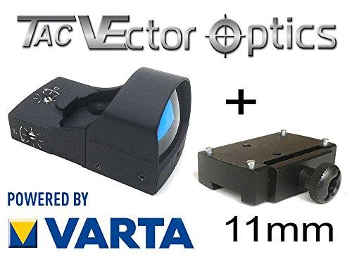 VECTOR-OPTICS RedDot Rotpunkt inkl. 11mm Montage/Dovetail (DOCTER kompartibel) Visier Sphinx Zieloptik -