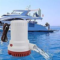 2000GPH Bomba de Agua de vacío Bomba de achique Marina Sumergible para protección contra la escotilla no automática, Resistente a la corrosión, no automática