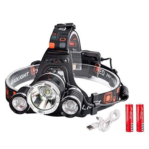 Stirnlampe,LED Stirnlampe,Kopflampe,Head TorchHigh Power T6+2*r2 Led Headlamp 4000 Lumens Head Lamp Led 4 Modes Headlight Waterproof Lampe Frontale Usb Charging