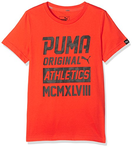 PUMA Kinder Style Graphic Tee T-Shirt, Cherry Tomato, 164 (Sport T-shirt Graphic)