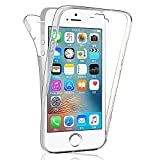 Apple iPhone 5/ 5S/ SE Housse HCN PHONE Coque Silicone Gel ultra mince 360° protection intégrale Avant et Arrière pour Apple iPhone 5/ 5S/ SE - TRANSPARENT