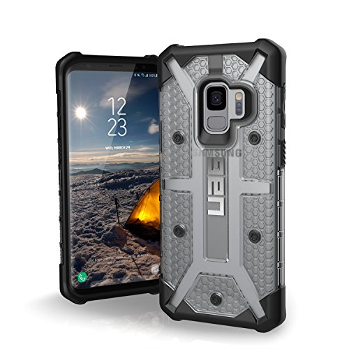 Urban Armor Gear Plasma Schutzhülle nach US-Militärstandard für Samsung Galaxy S9 - transparent [Verstärkte Ecken I Sturzfest I Antistatisch I Vergrößerte Tasten] - GLXS9-L-IC