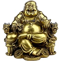 Fatto a mano in ottone il Buddha di drago sedia decorata bronzo statua statuetta scultura Home decorazione ornamento