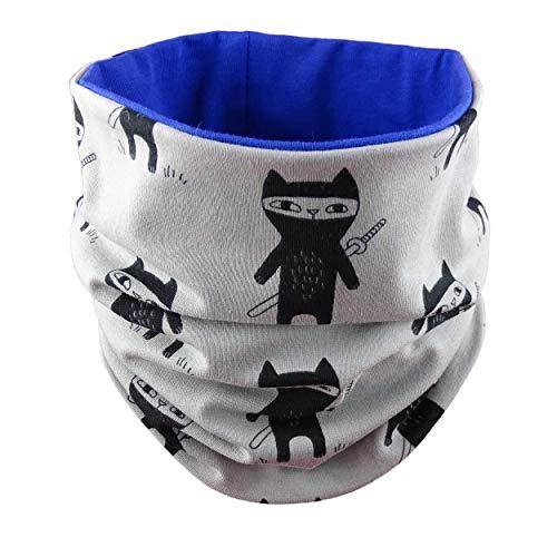 Katzen Womens Baumwolle (Eve Couture Loop Schal Baby Kleinkind Baumwolle Herbst Ninja Ninjakatze Junge Katze)