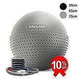 Mirumb Ballon de Yoga 55 cm Pompe-Balle de Pilates-Ballon de Gym,Ballon de Fitness-Yoga,Pilates