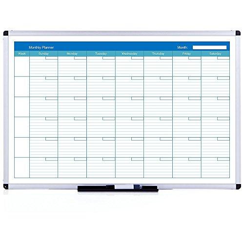 Monatsplaner/Whiteboard, mit Alurahmen, 90x60cm ()