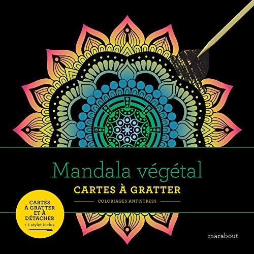 Livre à gratter Mandala végétal
