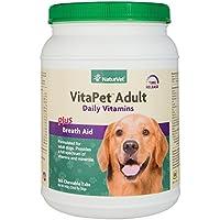 NaturVet Vita Pet Adult Tablets Tasty Chewable Vitamins Minerals for Dogs 365ct