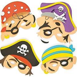 Kit para hacer caretas de piratas, 4 ud.