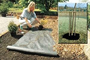 Plantex telo anti erbacce da giardino in tessuto duponttm 1 x 25 m giardino e - Telo tessuto non tessuto giardino ...