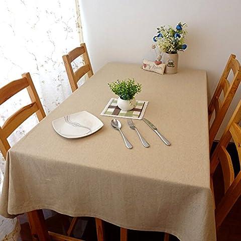 sypure (TM) Europa Estilo gamuza de mesa de comedor vintage Solid mantel lino mesa cubierta decoraciones para el hogar retro banquete cuadros fundas, 140x140
